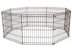 BestPet 8-Panel Tall Dog Playpen Crate Fence Pet Kennel Play Pen Exercise Cage, 42-Inch, Black *** More details can be found by clicking on the image.