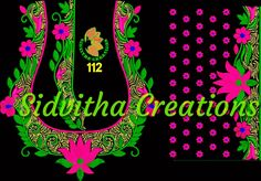 Watsapp on to buy the design(DST/JEF) and for price details Blouse Designs, Embroidery Designs, Neon Signs, Blouses, Digital, Stuff To Buy, Art, Bruges Lace, Blouse