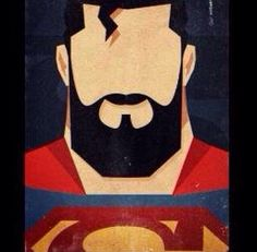 I love a dark beard, especially when it looks like this. Superman Beard, Batman Vs Superman, Superman Stuff, Batman Robin, Beard Art, Arte Dc Comics, Beard No Mustache, Man Of Steel, Cartoon Drawings