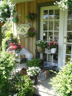 Cozy Little Porch....via Claudia's Casita