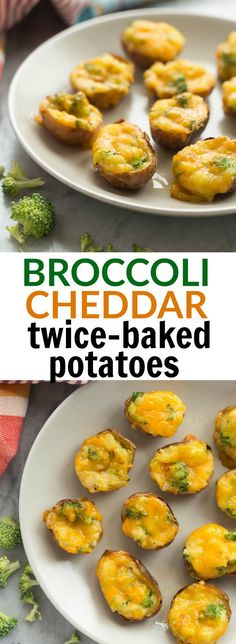 These Broccoli Cheddar Twice Baked Potatoes are bite-sized and make ...