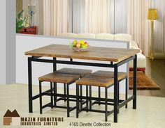 The Marsden Collection. The dinette varieties of the Marsden Collection will fit your space and your budget. Constructed in power-black metal frames and natural