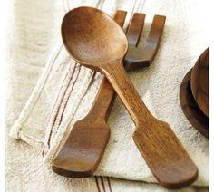 Vintage Wood Serving Set | Pottery Barn