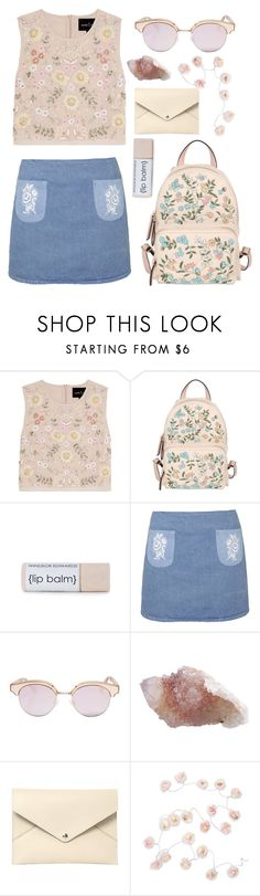 """""""Untitled #66"""" by adaarutunova on Polyvore featuring Needle & Thread, RED Valentino, Topshop, Le Specs, Louis Vuitton and Talking Tables"""