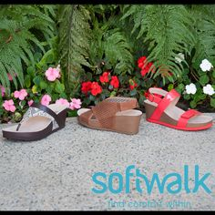 #Comingsoon to ClogsAndShoes.com: SoftWalk and #GreysAnatomy, comfortable shoes that take you from work to play. Shown here are the Heights, Hanford, and Hart #sandals. #casual #womensfashion #womensshoes #scrublife #nurse #nurselife #nursing #clogs #shoes #fashionblogger #fashion #fashioninspiration #bosslady #bossbabe #cuteshoes #hairdresser #cook #waitress #outfit #ootd #outfitoftheday #spring #springfashion #garden