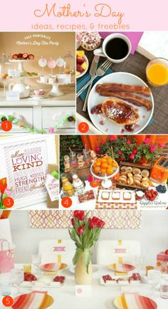 Mother's Day Ideas, ideas, recipes & freebies!