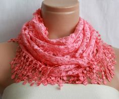 candy pink scarf