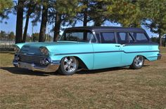 1958 Chevy 2 door 58 wagon, not many of these left, nice looking.