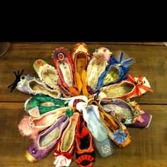 Nutcracker Pointe Shoes by gilda (maybe try to recreate with old pointe shoes)