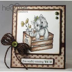 Heartfelt Creations - Pampered Pooch Missing You Project