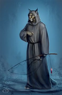 M'aiq The Liar by ~ArtAngelo~ M'aiq is not fishing -- I like it when he appears in the middle of nowhere just to talk :-)