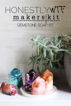 HonestlyWTF x MakersKit DIY Kit collaboration. First up, DIY gemstone soaps!