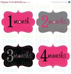 NEW Monthly Baby Onesie Stickers  Kinsley by babyfables on Etsy, $8.75