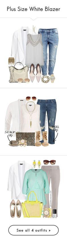 Plus Size White Blazer by alexawebb on Polyvore @alexandrawebb #alexawebb #plussize