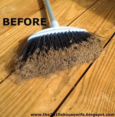 How to clean a broom. I could go buy a new one but I would spend a fortune buying them every other month with as often as mine get used and as dirty as they get. I have a dog and kids, people, give me a break.