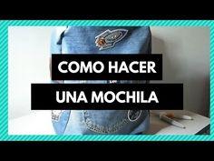 DIY backpack o mochila antirobo Mochila Jeans, Diy Backpack, Backpacks, Bell Art, Bags, Needlework, Tutorials, Ideas, Fashion