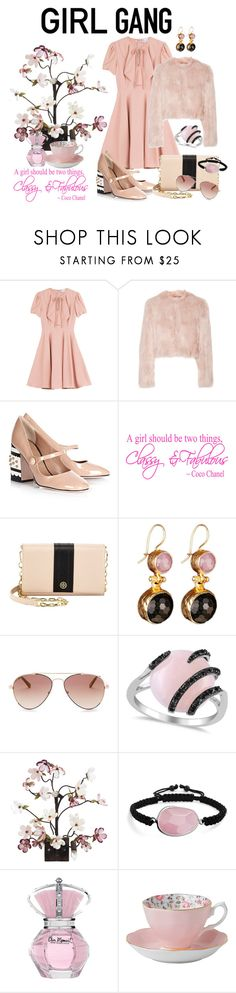 """Yay! It's Galentine's Day"" by lexuslady ❤ liked on Polyvore featuring RED Valentino, Tory Burch, Ted Baker, Allurez, Canopy Designs, Bling Jewelry, Royal Albert, women's clothing, women and female"