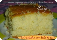 Espaço das delícias culinárias: Bolo fofinho com leite de coco