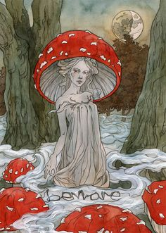 ImageFind images and videos about art, illustration and mushroom on We Heart It - the app to get lost in what you love. Art Sketches, Art Drawings, Art Magique, Mushroom Art, Mushroom Drawing, Fairytale Art, Fairytale Drawings, Hippie Art, Fairy Art