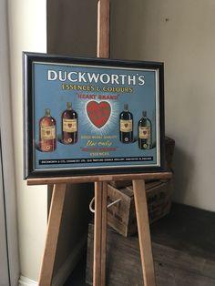 Vintage Framed Duckworth's Essences Advertising Sign Manchester England, Advertising Signs, Vintage Frames, Antiques, Ebay, Antiquities, Antique