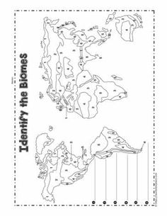 Biome coloring map Coloring pages