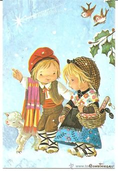 1000 images about illustrations on pinterest sarah kay - Postal navidad original ...
