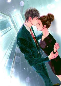 예뻐 Anime Couple Kiss, Manga Couple, Anime Couples Manga, Cute Anime Couples, Anime Love Story, Manga Story, Cute Couple Gifts, Cute Couple Art, Manhwa