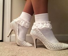 Women's lacy ankle socks short boot socks Ladies lace