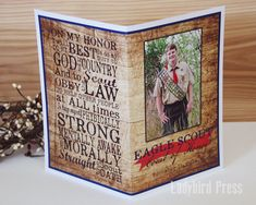 Printable Eagle Scout Court of Program Cover by LadybirdPress