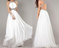 New design white prom dress long white prom dress by okbridal, $178.00