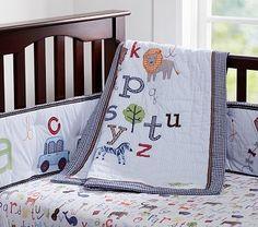 Just ordered this for little man's nursery! - Animal Alphabet Nursery Bedding #pbkids