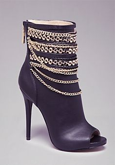 Alyssa Chain Open Booties.  Not a fan of the open toe but love the chains!