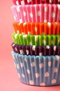 Polka Dot Cupcake Liners by Bakerella,