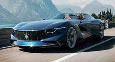 Maserati GranTurismo Targa Concept Makes The MC20 Seem A Bit Uneventful My Dream Car, Dream Cars, Maserati Gt, Maserati Sports Car, Best Luxury Cars, Transportation Design, Vw Tiguan, Car Manufacturers, Courses