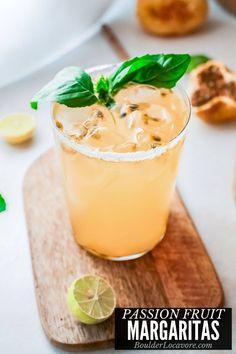 Passion Fruit Margaritas Passion Fruit Margarita Recipe, Passion Fruit Juice, Watermelon Margarita, Margarita Recipes, Fun Cocktails, Drinks, Frozen Margaritas, Best Cocktail Recipes, Mexican Food Recipes