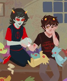 Karkat/Terezi request Two years ago I found scenes like this quite romantic