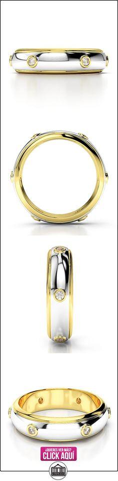 AG & Sons Hombre  750 Gold  Oro blanco y amarillo, 18 kt redondo   GH diamante FINERING  ✿ Joyas para hombres especiales - lujo ✿ ▬► Ver oferta: https://comprar.io/goto/B01IRGCUX8