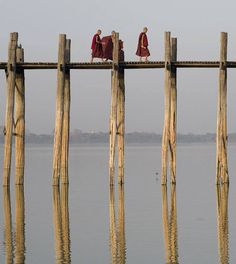 Ubein Bridge - connecting Amapura and Mandalay