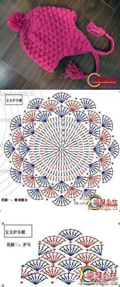 MiiMii - crafts for mom and daughter.: Magic crochet-inspiration and models for everyone. Motif Mandala Crochet, Crochet Circles, Crochet Doily Patterns, Crochet Diagram, Crochet Round, Crochet Chart, Crochet Home, Crochet Designs, Crochet Baby