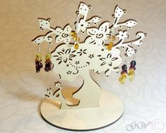 Wooden Jewelry Tree Earring TreeEarring by GreenWoodLT on Etsy