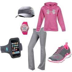 Workout outfit my-style Workout Attire, Workout Wear, Workout Style, Workout Tanks, Mode Yoga, Womens Workout Outfits, Athletic Outfits, Athletic Gear, Fitness Fashion