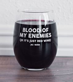 This wine glass that tells everyone not to mess with its owner. | 27 Gifts For People Who Won't Be Fucked Over