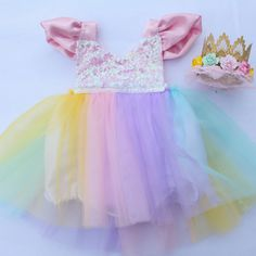 A Magical Unicorn Sparkle Romper~ Cutest Dress-up/Halloween outfits for little ones!! #bellethreadspinterest