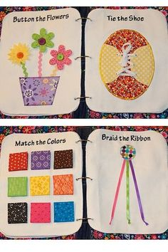 Wish i could make this!!!!!  More cute quiet book ideas