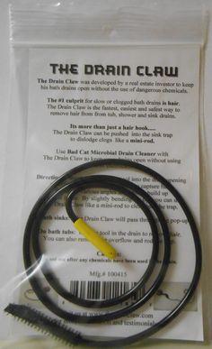 The handy Drain Claw...really works! http://www.bullocksbuzz.com/2012/08/the-drain-claw-easy-and-environmentally.html