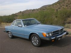 Rare two tone China and Marine Blue 1982 MERCEDES-BENZ 380SL ROADSTER