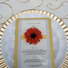 Wedding Menu Cards Embellished with The by DragonflyExpression, $100.00