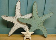 Starfish Weathered Wood Sign Star of the Sea