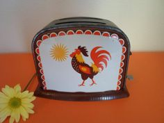 vintage child's toy rooster toaster  'Good by alsredesignvintage