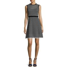 M Missoni Sleeveless Triangle-Striped A-Line Dress ($695) ❤ liked on Polyvore featuring dresses, black patt, women's apparel dresses, m missoni dress, triangle dress, a line striped dress, a line shape dress and striped sleeveless dress